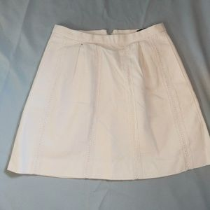 J.Crew Size 6 White Mini Skirt